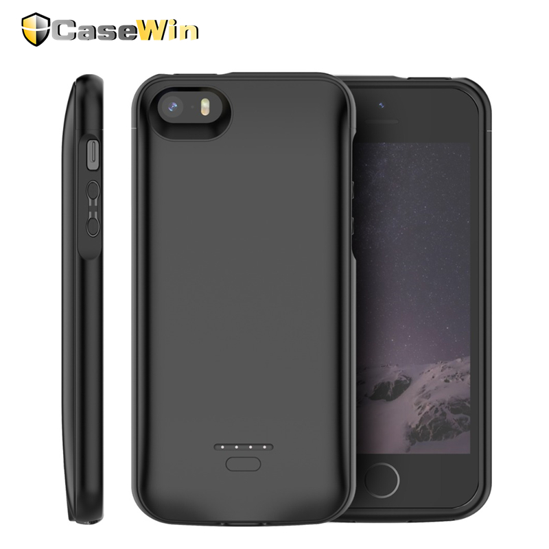 4000mAh For <font><b>iPhone</b></font> SE <font><b>5</b></font> 5S <font><b>Battery</b></font> Charger <font><b>Case</b></font> Slim Power Bank Cover Charging Bateria Fundas for <font><b>iPhone</b></font> X XS Max 6 6S 7 8 plus image