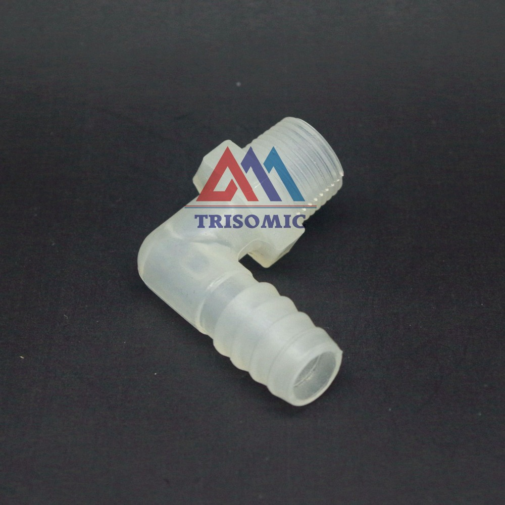 11.1mm*G3/8 Elbow screw thread type Connector Tube Joiner Material PP Plastic Fitting Tank Airline acid and alkali resistant