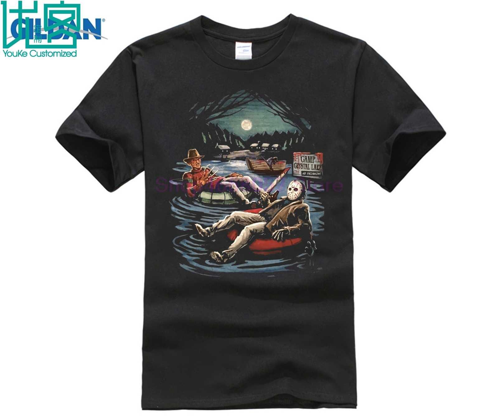 Фото FRIDAY The 13th Джейсон Вурхиз FREDDY Krueger ELM STREET Movie Мужская Новая футболка мужская для