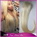 Высочайшее качество 7а 613 # реми волосы шелковистые прямые светлые волосы девы кружева закрытие бесплатная доставка