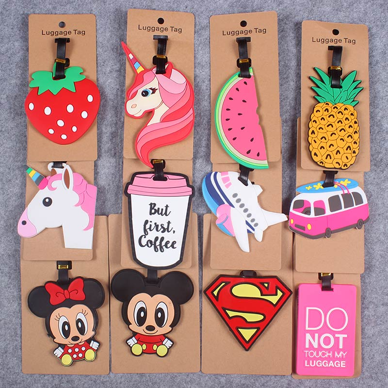 Travel Accessories Creative Luggage Tag Animal Cartoon Silica Gel Suitcase ID Addres Holder Baggage Boarding Tags Portable Label