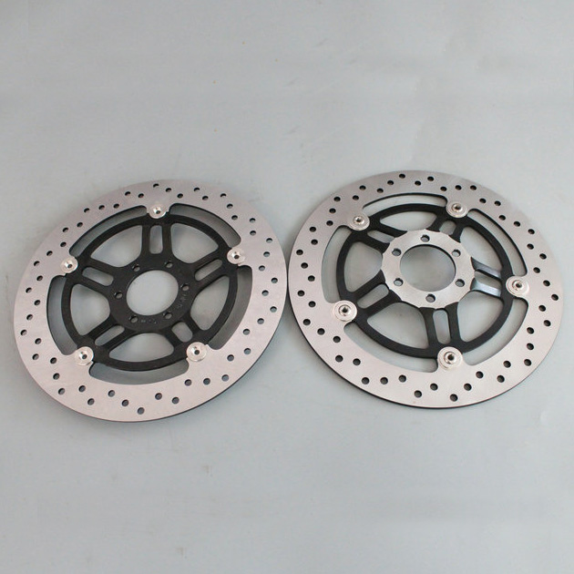 Round hole 2 pieces motorcycle Front Disc Brake Rotor Scooter Front Rear Disc Brake Rotor for HONDA HORNET250 VTR250 160mm 4 hole rear brake disc rotor high quality alloy rear brake disc roter motorcycle spare parts fit for atv dirt bike ds 148