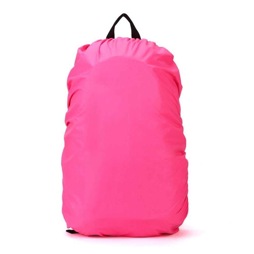 Новый Водонепроницаемый дорожный аксессуар рюкзак пыль дождевик 45L, розово-красный