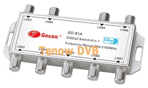 Приемник спутникового телевидения Gd 81 8 x 1 diseqc, 8 1 diseqc FTA LNB