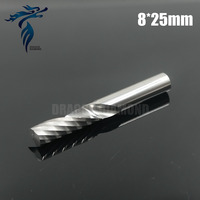 5pcs 8 25MM Single Flute Spiral Drill Bits Carbide Cutters CNC Engraving Tools End Milling On
