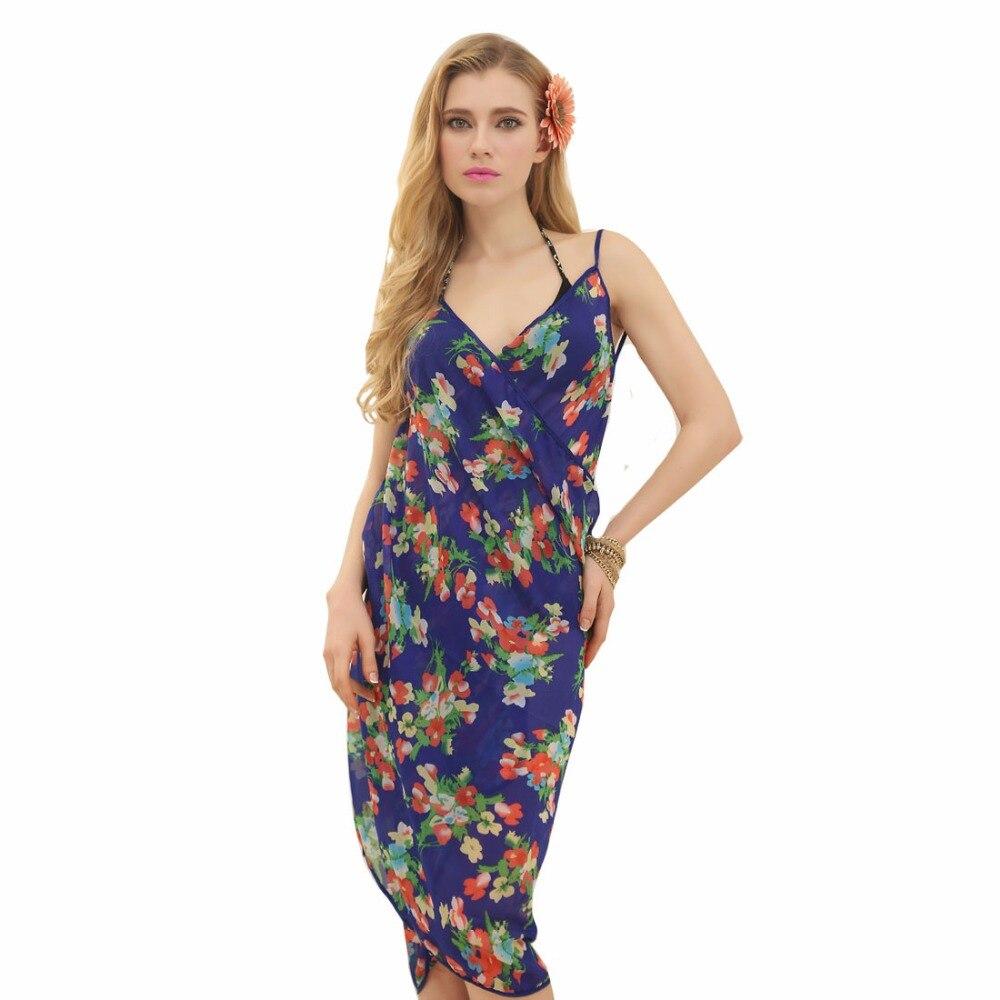 Hot Sale New Fashion Women Printed small Flower Sarong Pareo Beach Dress Bikini   Scarves     Wraps   P8A149003