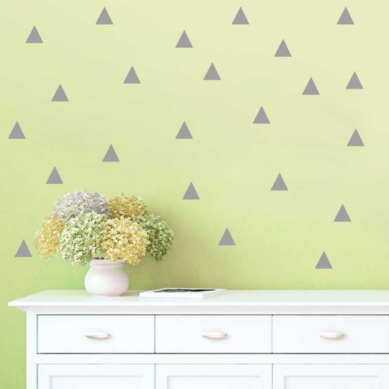 48pcs Triangles Wall Sticker Kids Room Wall Decoration Wall Decals Home Decor Diy Peel And Stick