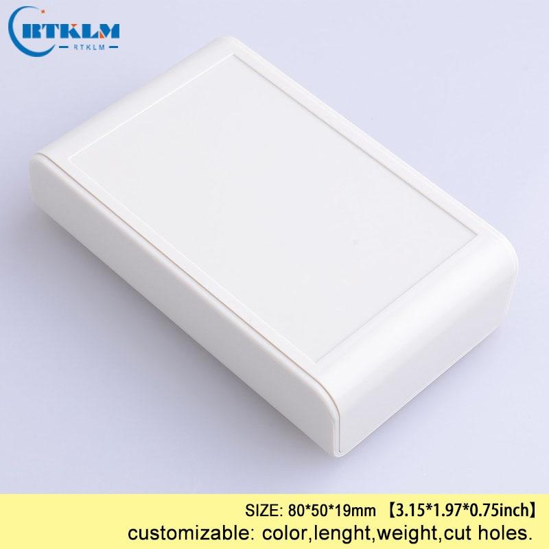 DIY пластиковая коробка для проекта, корпус из АБС-пластика, Электронная распределительная коробка, заказной ящик для инструментов, маленькая настольная оболочка 80*50*19 мм - Цвет: BMD60001-A1