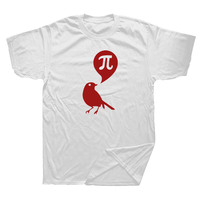 Summer Fashion High Quality Style Men T Shirt Bird Mathematics Pi Man Cotton Short Sleeve Funny