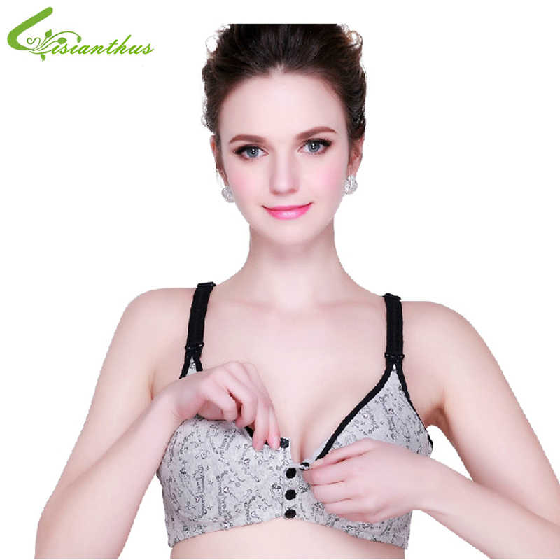 c5a5d510ef569 Breastfeeding Nursing Bra Cotton Underwear C Cup Vest Top Pregnant Women  Lactating Mother Wire Free Bra