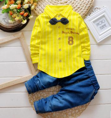 Children Clothing Set 2019 Spring Costume for Kids Baby Clothes Toddler Child Shirt pant 2PCS set Baby Suit for 1 2 3 4 QHQ032 in Clothing Sets from Mother Kids