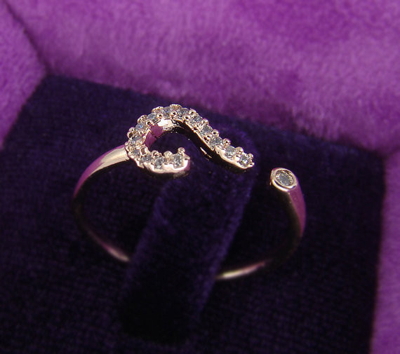 Newest Style Listed Jewelry Question Mark Ring Crystal Wrap