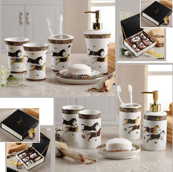 Hot S Luxury Famous Bathroom Accessories European Style Ceramic Five Piece Set Best Birthday Married Gift In Sets From