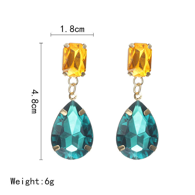 Fashion 10 Colors AAA CZ Element Drop Earrings For Women Bridal Engagement Earring Wholesale Jewelry Cheap Factory Price