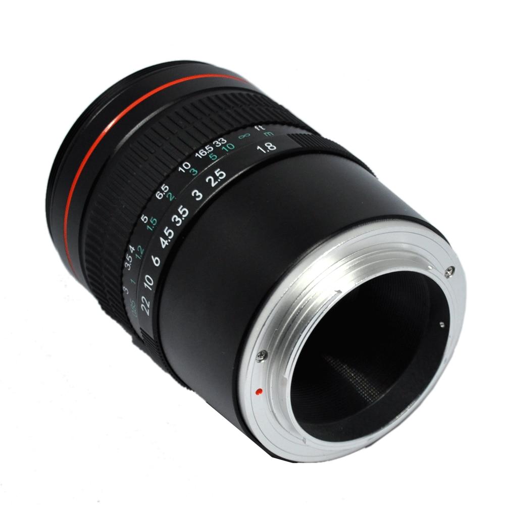 JINTU 85mm F/1.8 téléobjectif Portrait Prime fixe plein cadre objectif pour Sony NEX3 NEX5 NEX6 NEX7 A5000 A6300 A6500 A7 A9 A7R caméra - 4
