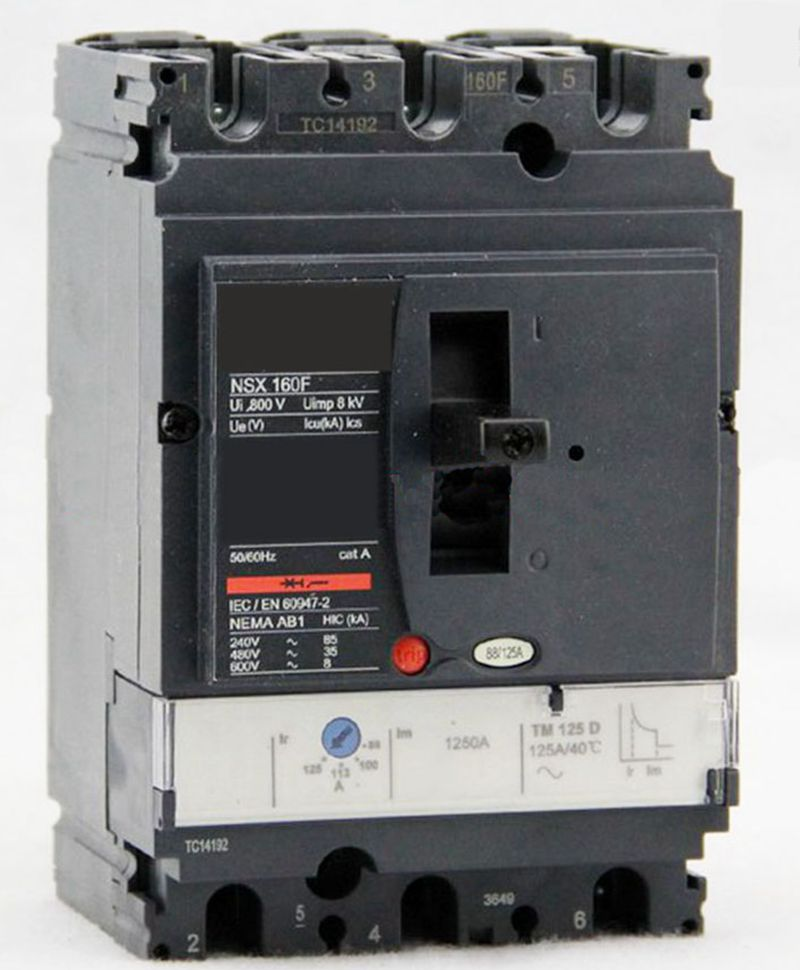Plastic case circuit breaker NSX100N 3P 25A TM25D LV429846 Stationary 400 amp 3 pole cm1 type moulded case type circuit breaker mccb