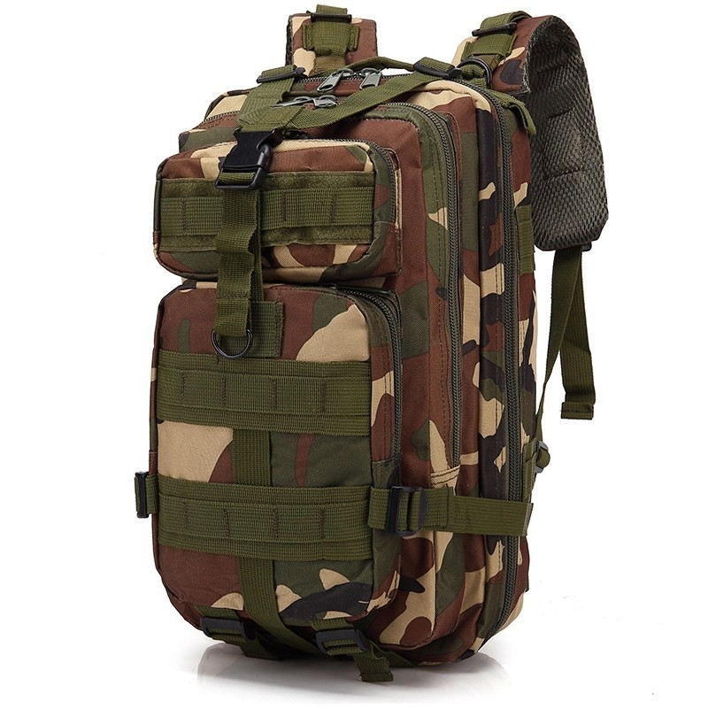 3P Military Tactical Backpack Camouflage Army Tactical Molle Bag For Men Outdoor Sports Camping Hunting Pack Hiking Climbing Bag