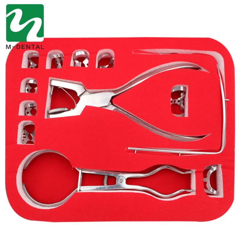 1 Set matériel dentaire en caoutchouc barrage perforateur perforateur dents soins pinces dentiste laboratoire dispositif Instrument équipement pour laboratoire dentaire