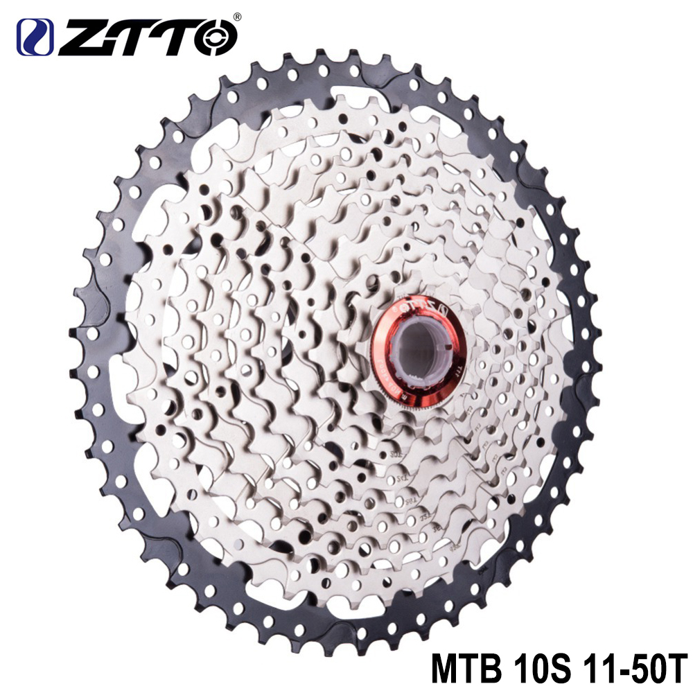 ZTTO Mountain Bike MTB 10 Speed 11-50T Casette Bicycle Freewheel Compatiable with SRAM Shimano K7 XT SLX XO X0 X9 X7 Bike Parts