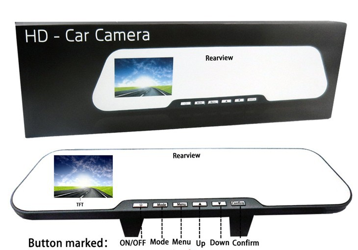 ФОТО 2016  New Facotry Hot Selling High resolution car rear view mirror with DVR+Free Shipping