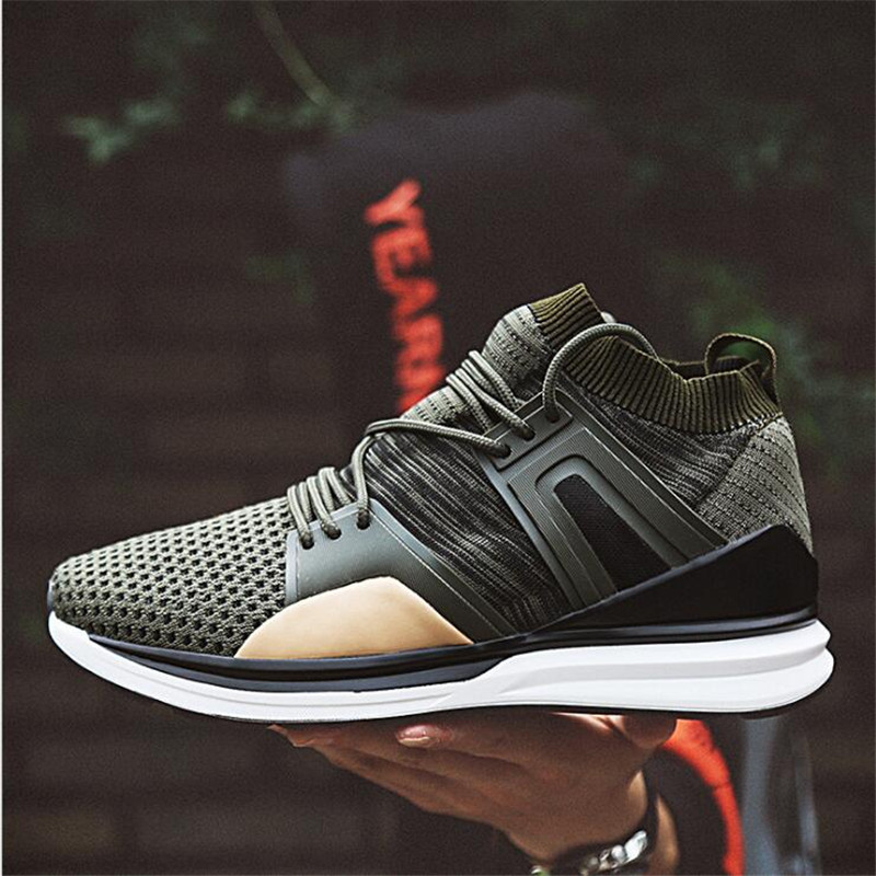 Brand 2017 Hot Sale Mesh Casual Shoes Summer Young Men Stylish Air-mesh Lace-up Light Shoes New flyknitlys racers shoes