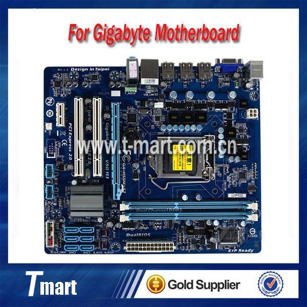 100% working Desktop motherboard for GA-H55M-S2 System Board fully tested original for ga ma78lm s2 desktop motherboard 940pin am2 am3 ddr2 100% tested