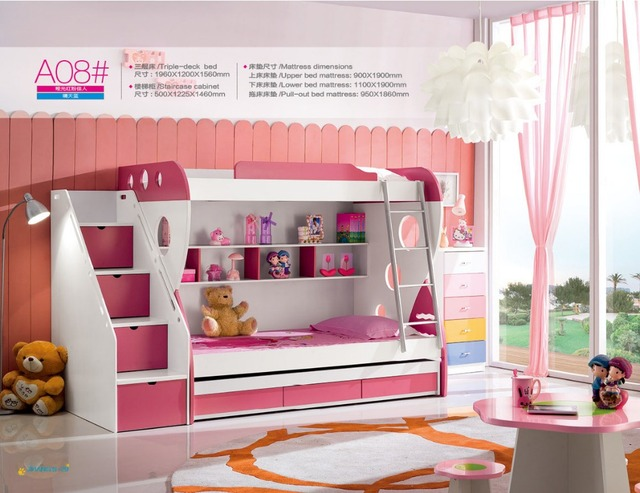 2018 Luxury Baby Beds New Wooden Bunk Child Special Offer Wood Lit Enfants Meuble Kindergarten Furniture With Stairs Bed