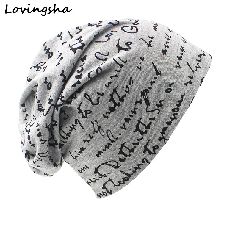 LOVINGSHA High Quality Brand Women Hat Unisex Warm Ladies Autumn Winter Hat Fashion Hip-hop Beanie For Men Chapeu Feminino Cap