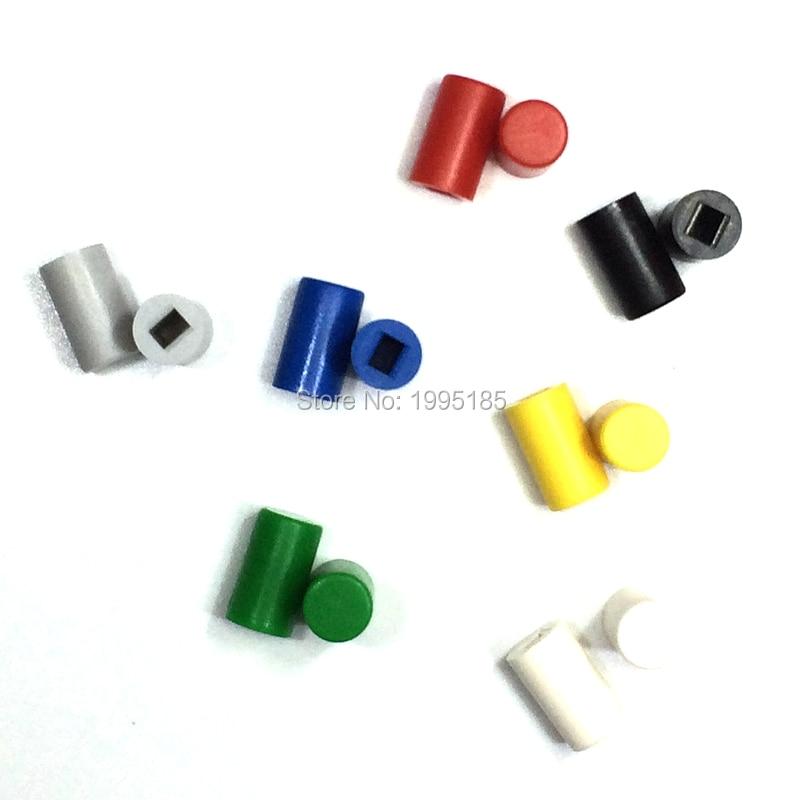14PCS/Lot A04 Round Buttons Cap For 8.5 * 8.5 / 8 * 8 Key Switch 6*10 Round Plastic Key Cap Seven Color Each 2 Black Yellow Blue