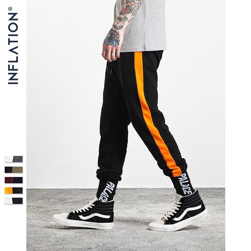 INFLATION Men Casual Sweatpants Elastic Waist Streetwear Brand Clothing Male Track Pants Fashion Men's Sweatpants 302W17