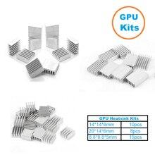 1Set/33pcs Aluminum Heat Sink Radiator Heatsink Cooler Kit for GPU Graphics Card ,VGA Video Card Heat Dissipation