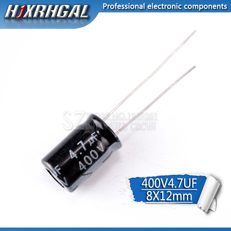 20 Higt Quality 400V4.7UF 8*12mm 4.7UF 400V 8*12 Electrolytic Capacitor Hjxrhgal