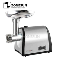 ZONESUN 220v steel meat cutter slicer meat cutting machine for household or restaurant Meat Grinders     -