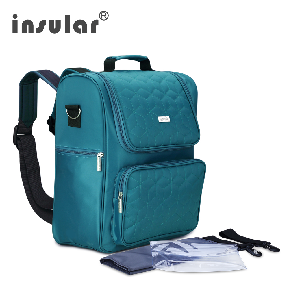 Insular Baby Backpack Changing Bag Infant Diaper Bags Fashion Mummy Maternity Nappy Bag Organizer  Brands Newborn Care Bags insular 2017 new arrival fashion bohemian style mother bag baby nappy bags large capacity maternity mummy diaper bag 5pcs set
