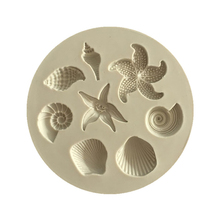 3D Chocolate Cake Silicone Mold Ocean Biological Conch Sea Shells Shape DIY Kitchen Liquid Decorating Tools