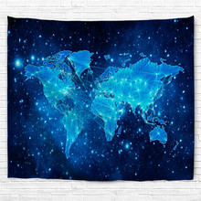 Buy world map fabric and get free shipping on aliexpress colorful world map fabric decorative wall hanging tapestry decor polyester curtain table cover beach picnic usage gumiabroncs Images
