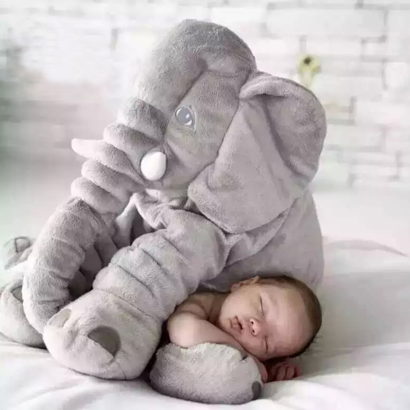40cm/60cm Height Large Plush Elephant Doll Toy Kids Sleeping Back Cushion Cute Stuffed Elephant Baby Accompany Doll Xmas Gift(China)