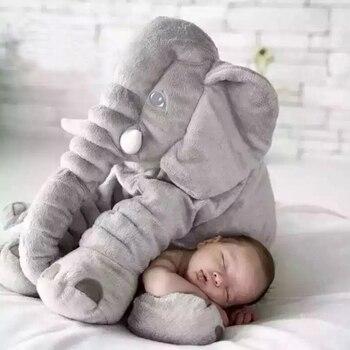 40 cm/60 cm di Altezza Grande Elefante di Peluche Bambola Giocattolo Per Bambini Sacco A Pelo Cuscino di Schienale Farcito Sveglio Elefante Del Bambino Accompagnare bambola Regalo di Natale