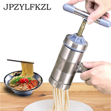 Manual Noodle Maker Kitchen Pasta Noodle Spaghetti Press Pates Machine Vegetable Fruit Juicer Pressing Machine Stainless Steel xiaomi ocooker portable juicer baby fruit and vegetable cooking machine point switch 304 stainless steel 8 seconds soup machine