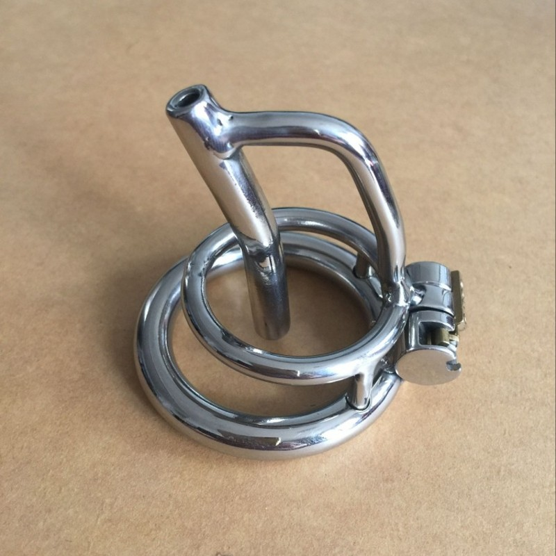 ФОТО Stainless Steel  style Male Chastity Belt Adult Cock Cage With Ring Sex Toys Bondage device S026