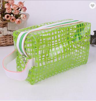 Fashion Cosmetic Bag Thick PVC Makeup Bag With Shoulder Strap