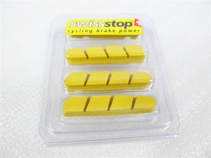 Plaquettes de frein supérieures pour jantes en carbone, plaquettes de frein suisses jaune King pour vélo de route excellente puissance d'arrêt, pour utilisation SH & CP