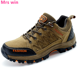 Outdoor Camping Men's Hiking Shoes Sports Shoes Anti-slippery Wear Tactics Military Soldiers Walking Shoes Sneakers