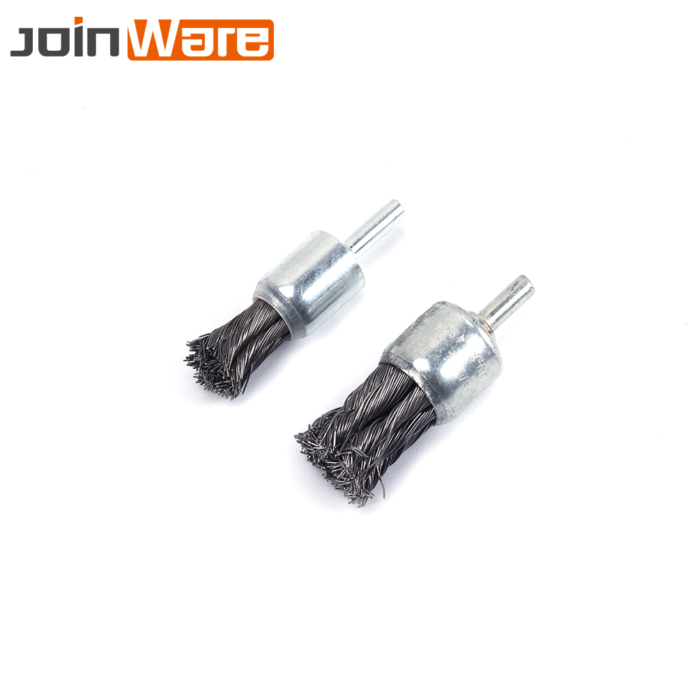 """1/"""" Crimped Wire End Brush Stainless Steel with 1//4/"""" Shank for Die Grinder Drill"""