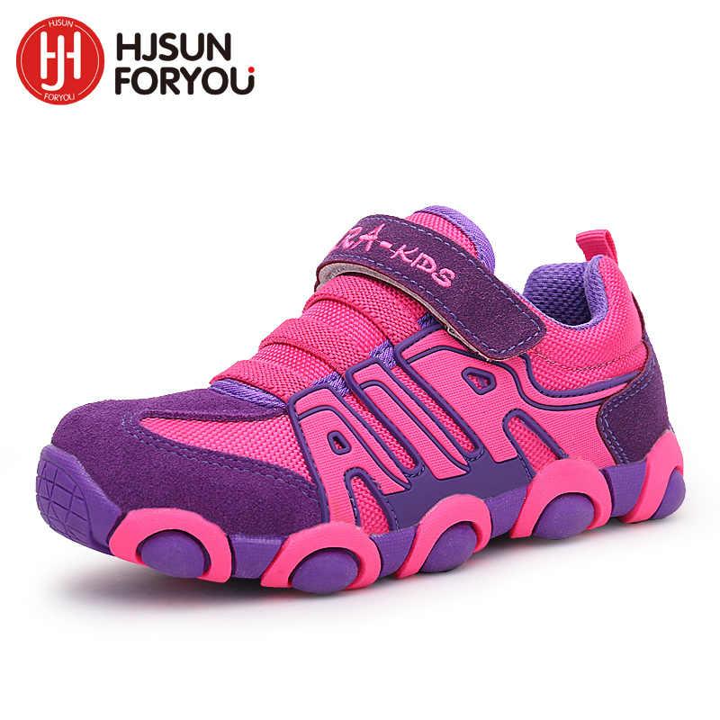 באיכות גבוהה מותג ילדי נעלי בנים ובנות אמיתי עור חיצוני נעלי ריצה לנשימה נעלי ילדי ספורט נעליים