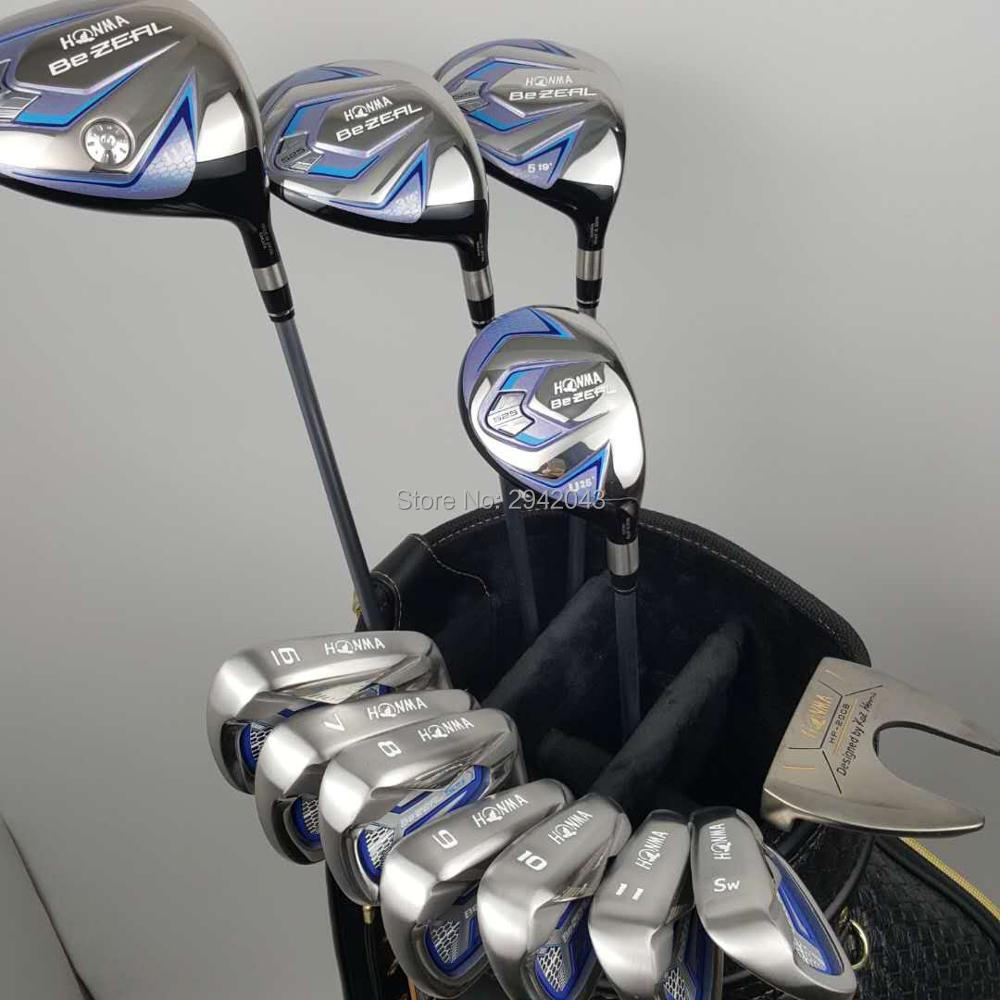 Golf clubs HONMA BEZEAL525 Compelete club sets Driver+3/5 fairway wood+irons+putter and Graphite Golf shaft No ball packs golf clubs honma bezeal525 compelete club sets driver 3 5 fairway wood irons putter and graphite golf shaft no ball packs
