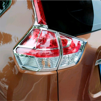 WELKINRY car auto cover styling for Nissan X-TRAIL T32 2013 2014 2015 2016 2017 ABS chrome rear tail lamp light taillamp trim