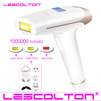 Lescolton 4in1 IPL Epilator Permanent Laser Hair Removal LCD Display 1000000 Pulses depilador a laser Bikini Photoepilator