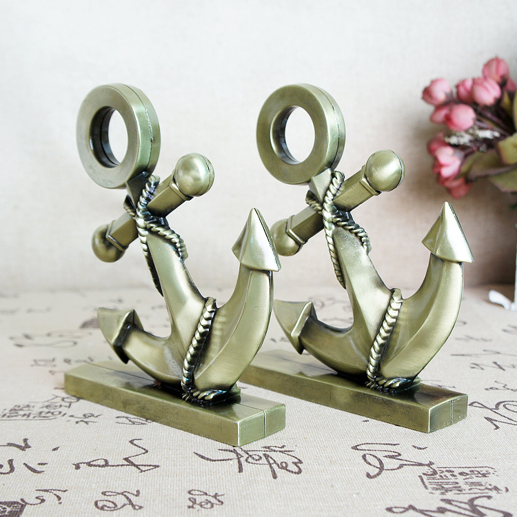 >Metal Crafts Alloy <font><b>Anchor</b></font> Decoration Photography Props Gift <font><b>Anchor</b></font> Alloy rustic home decoration accessories for living room
