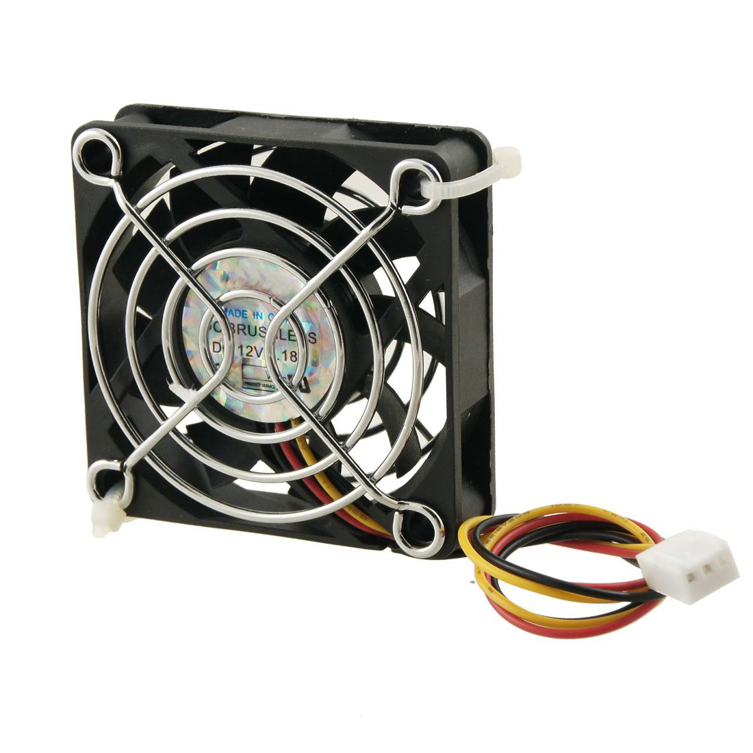 GTFS-60mm x 60mm x 15mm 3 Pins Cooling Fan w Metal Finger Guards шурупы 100 3 3 60 m3 double pass 60 mm